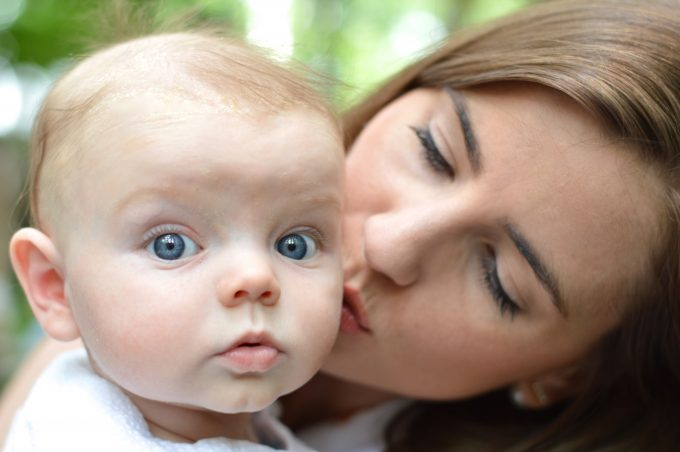 cutest baby, baby blue eyes, sweetest mom, beautiful mom and baby