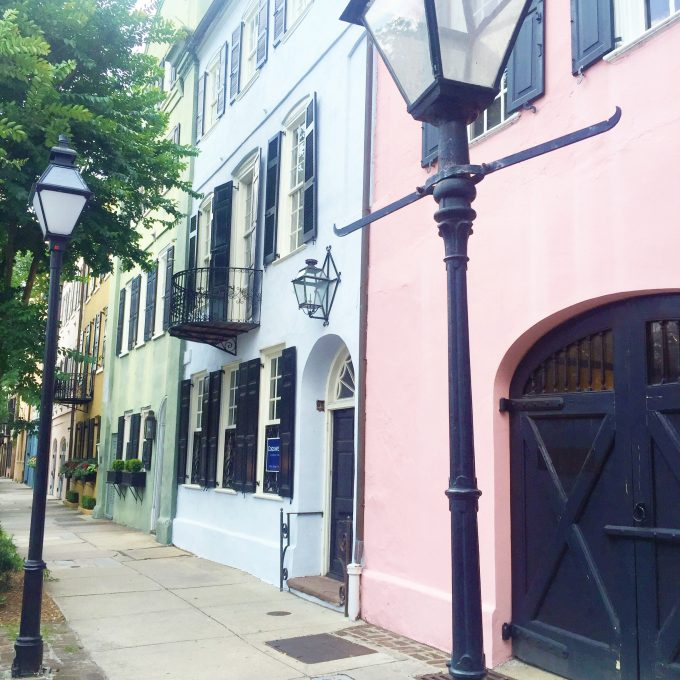 rainbow row, city streets in Charleston, sightseeing in Charleston