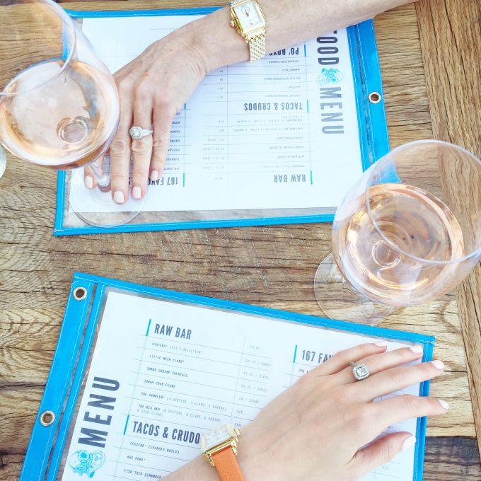 Charlseton restaurants, seafood in Charleston, where to eat in Charleston, rosè wine