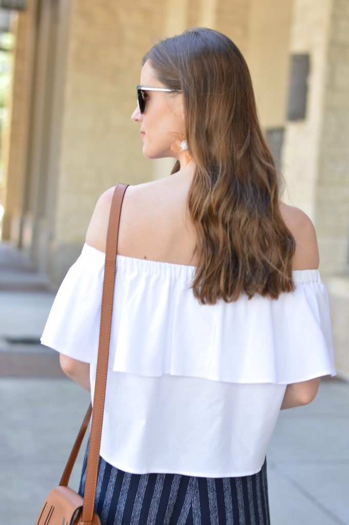 ruffled off the shoulder top, easy waves