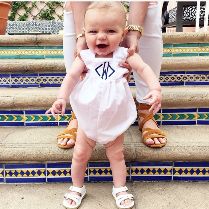 baby boy bubble outfit, spanish tile stairs, baby boy sandals
