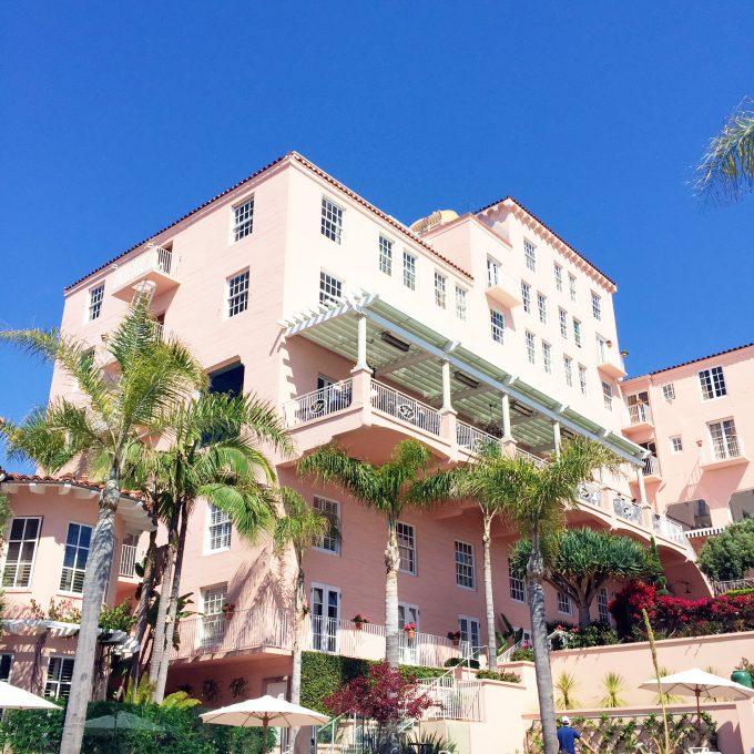 la valencia hotel, destination wedding venue, pink hotel, La Jolla hotel