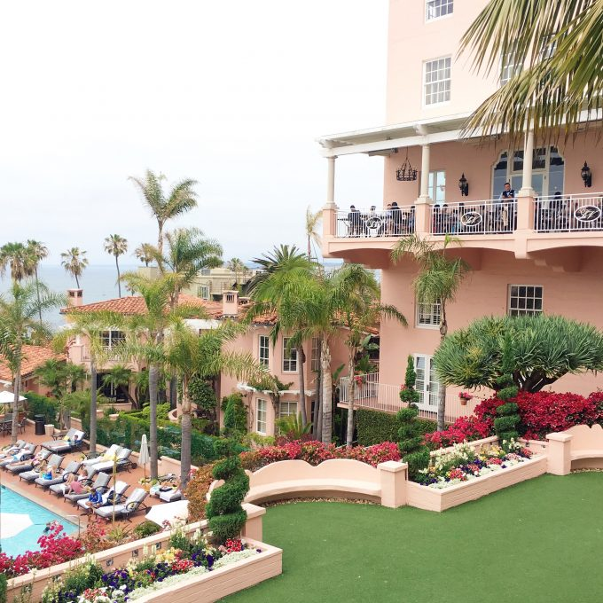 la valencia hotel, la jolla hotel, pink hotel in La Jolla, where to stay in San Diego, destination wedding venue