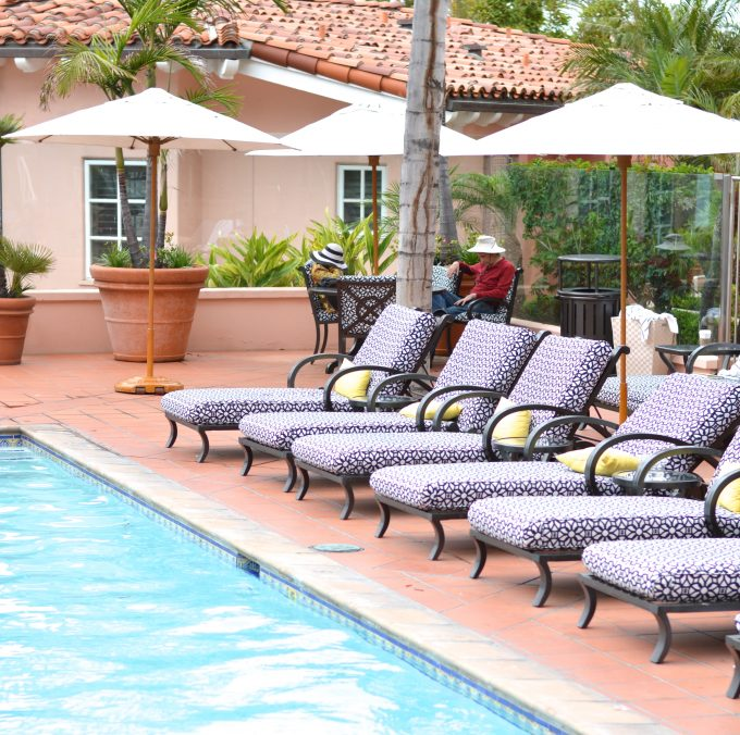pool at la valencia, hotel pool, la valencia hotel