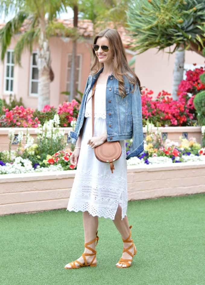 m gemi shoes, lace up sandals, white lace midi dress