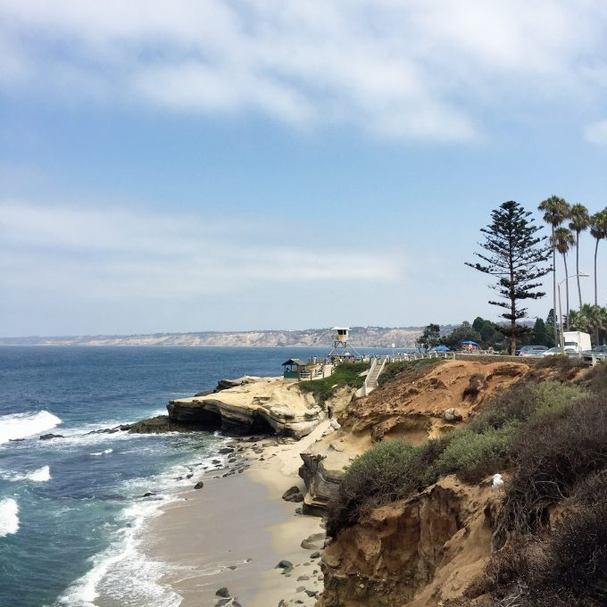 A beautiful view of the Pacific Coast line at La Jolla Claifornia