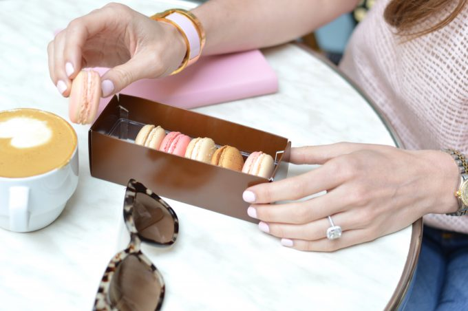A box of delicious French macarons