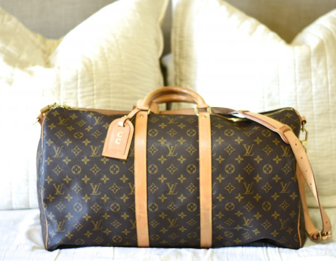 Louis Vuitton duffel bag for packing