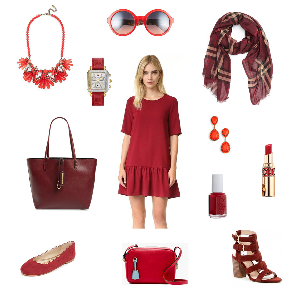fall must-haves, shades of red