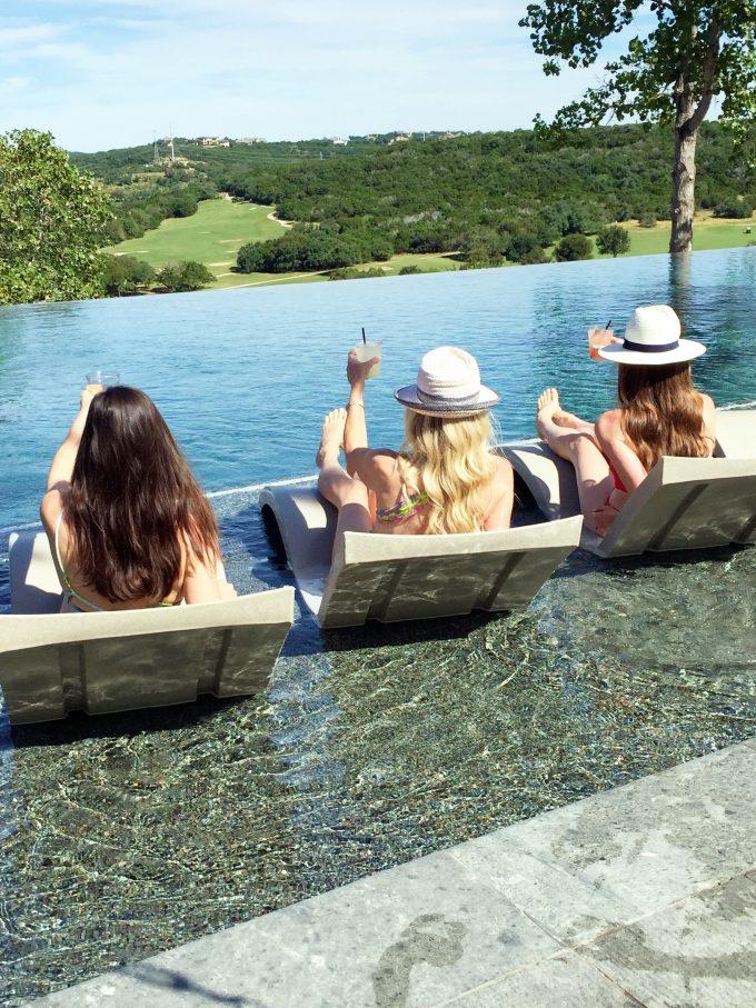 a day at the pool at la cantera resort and spa