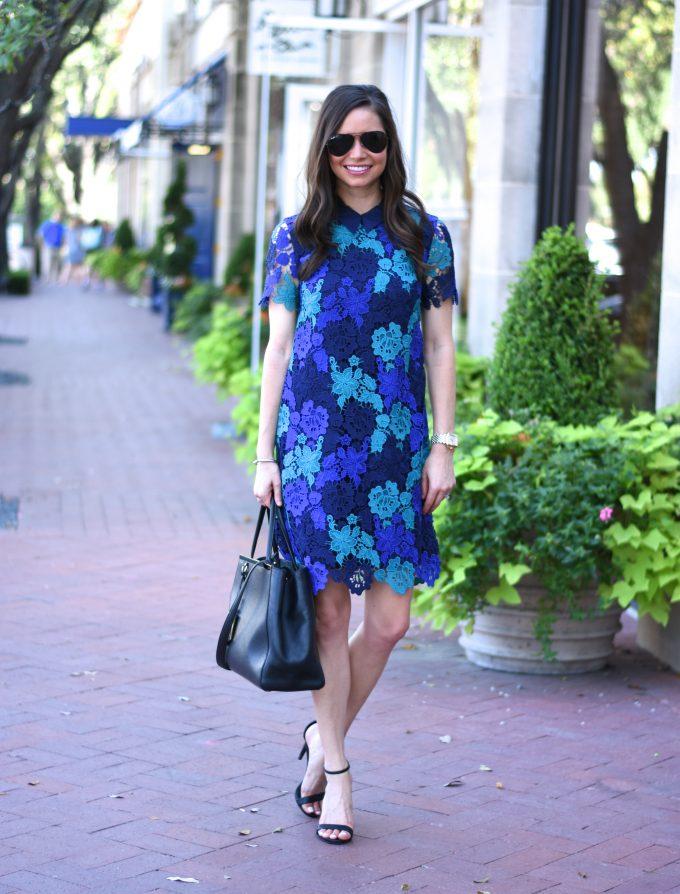 blue lace draper james dress