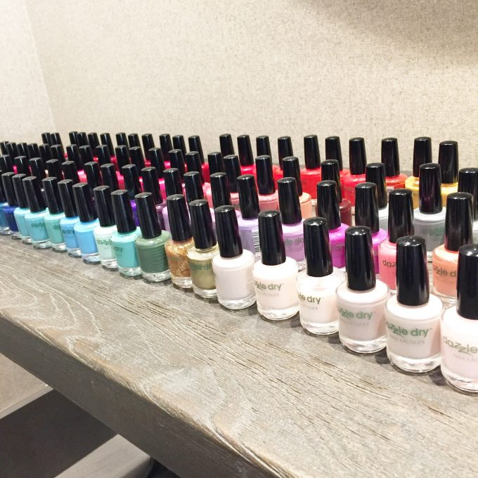 dazzle dry nail color selection