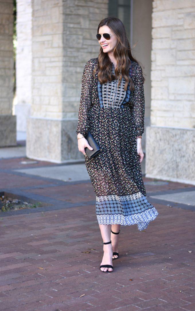 feminine flowy midi dress