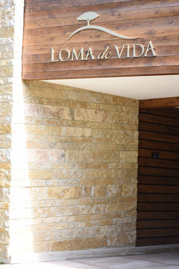 entrance to loma de vida spa
