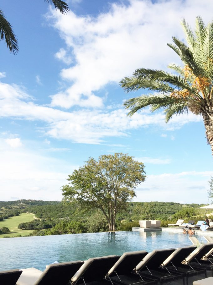 spa pool overlooking Texas Hill Country
