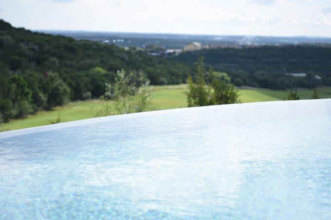 a beautiful spa pool with infinity edge