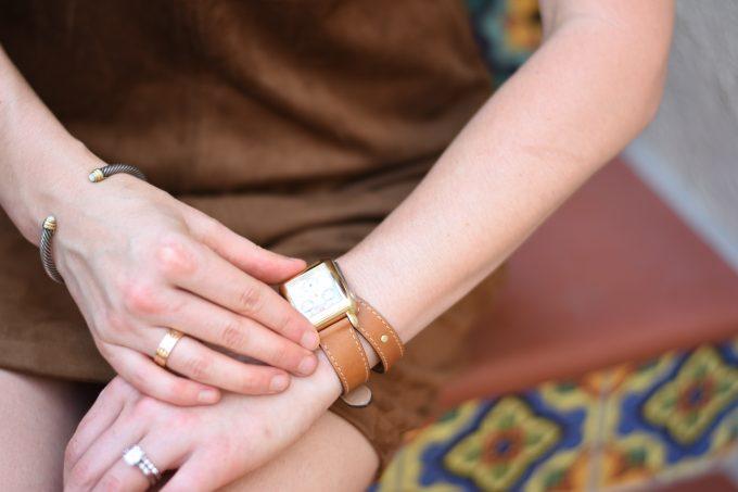 brown wrap watch strap