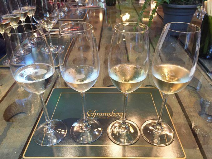 |sparkling wine tasting at schramsberg|