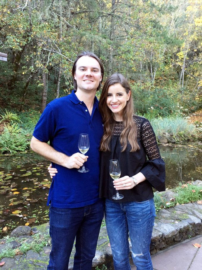 |enjoying bubbly at schrambsberg|