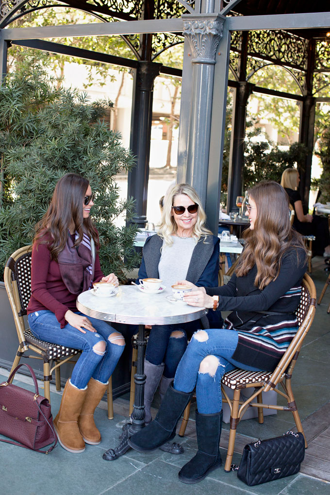 coffee outdoors at a bistro in Dallas
