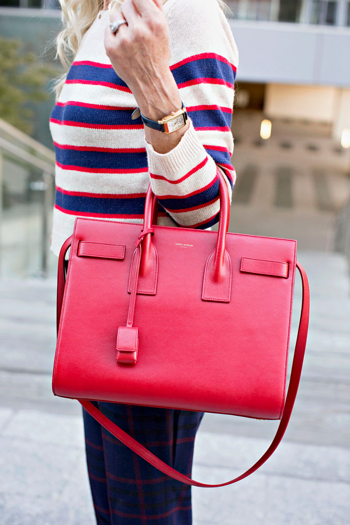 red satchel handbag