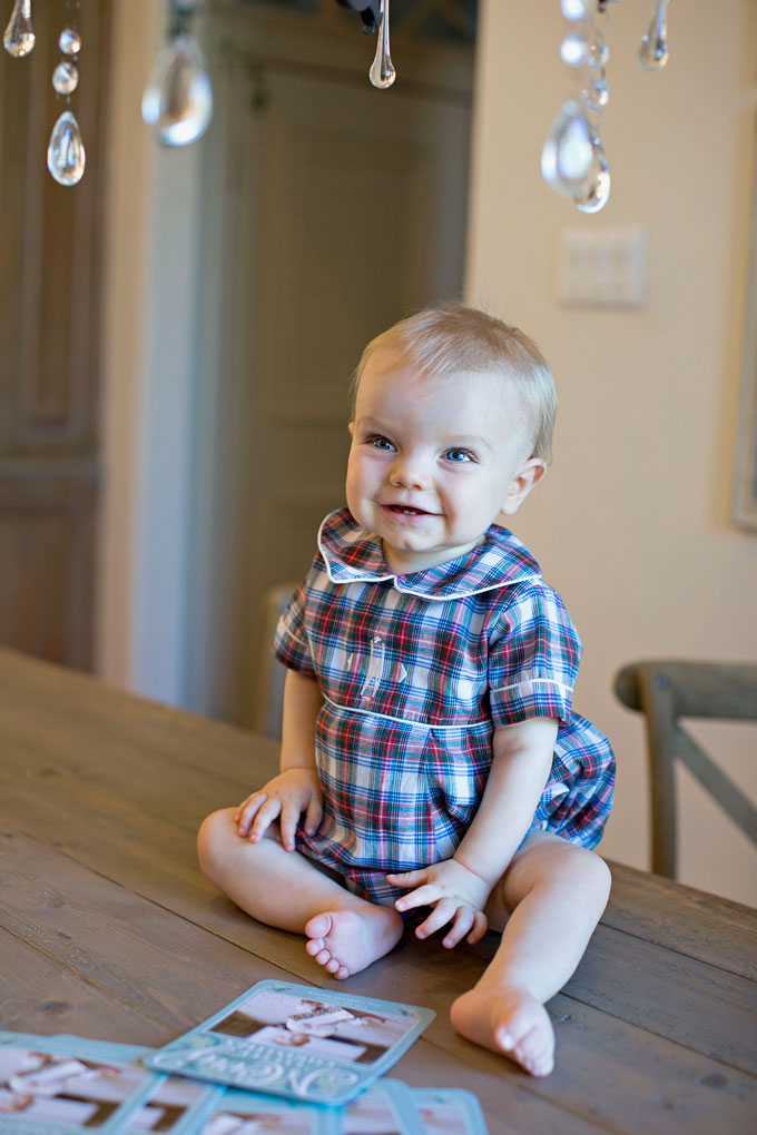 baby's first christmas, plaid baby boy christmas outfit