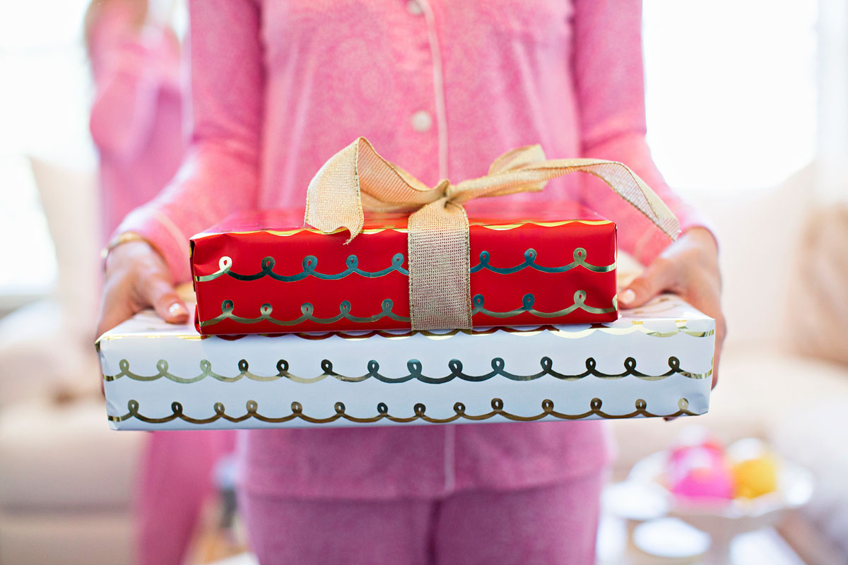 Chrustmas gift wrapped presents