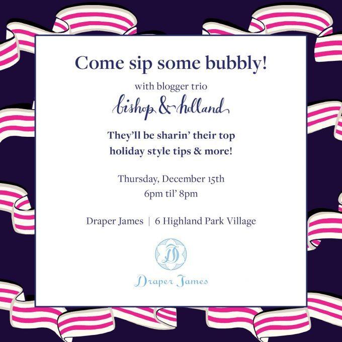 draper james holiday event, draper james highland park, highland park christmas events