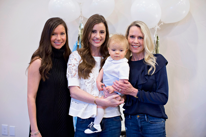mom, daughter and daughter-in-law with baby grandson