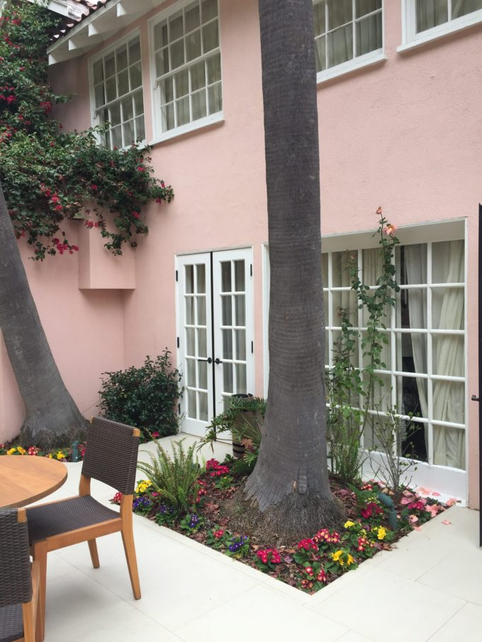patio at the hotel bel-Air