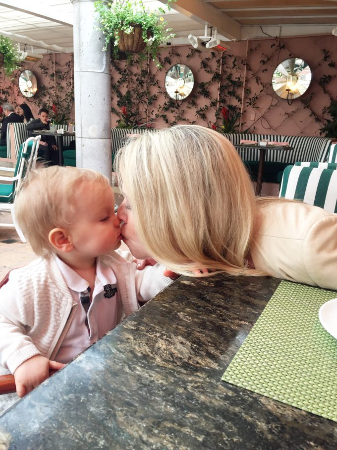 lady kissing baby
