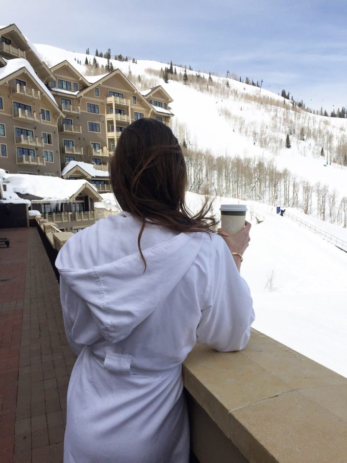 view from the spa deer valley