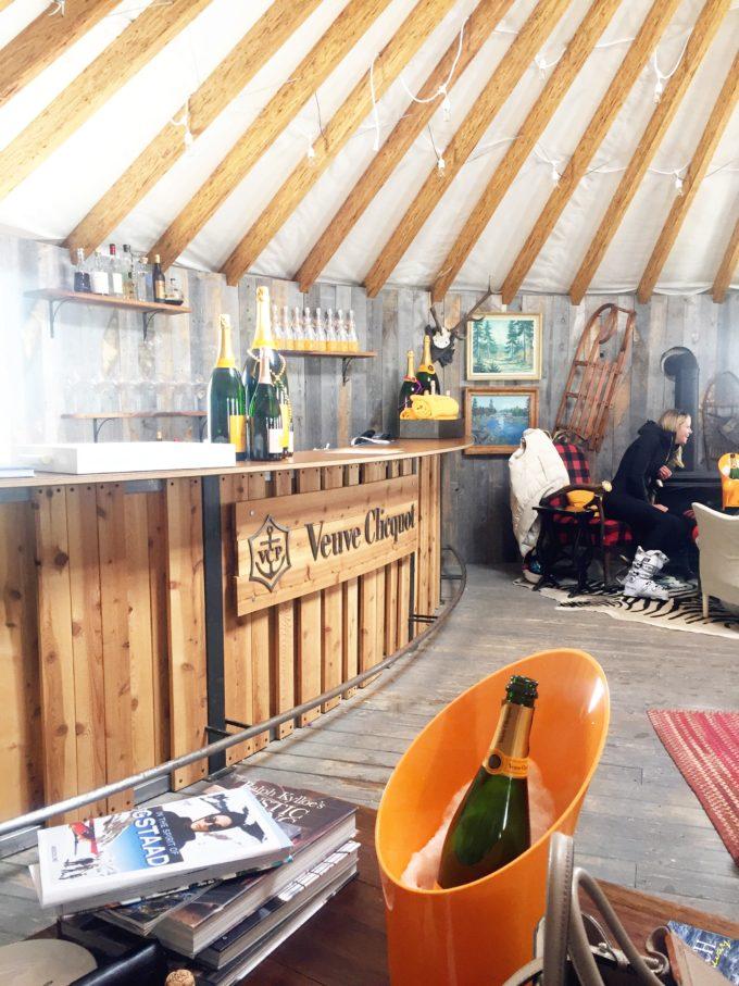 veuve cliquot yurt montage deer valley