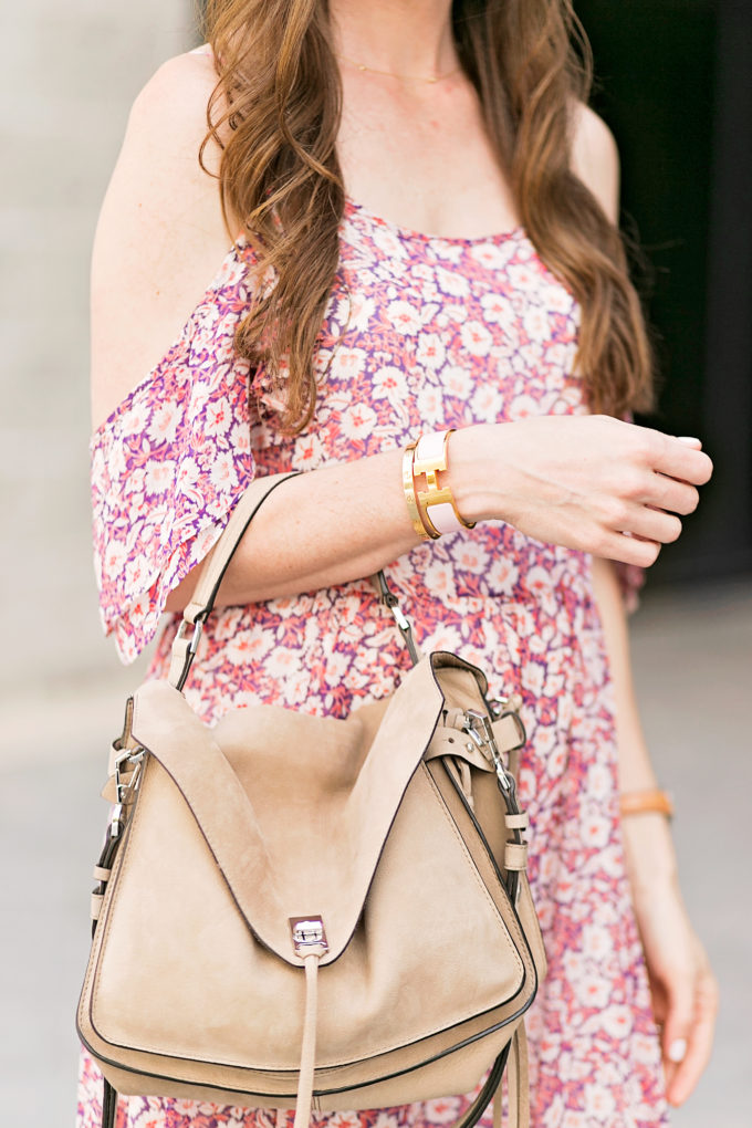 tan suede handbag