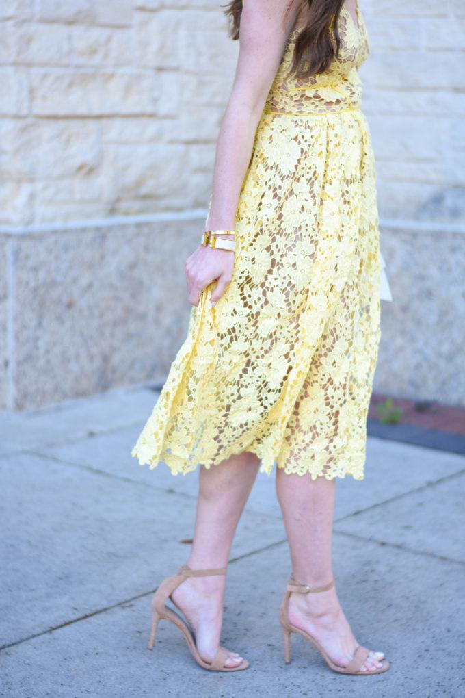 yellow lace dress 2017 - photo #48
