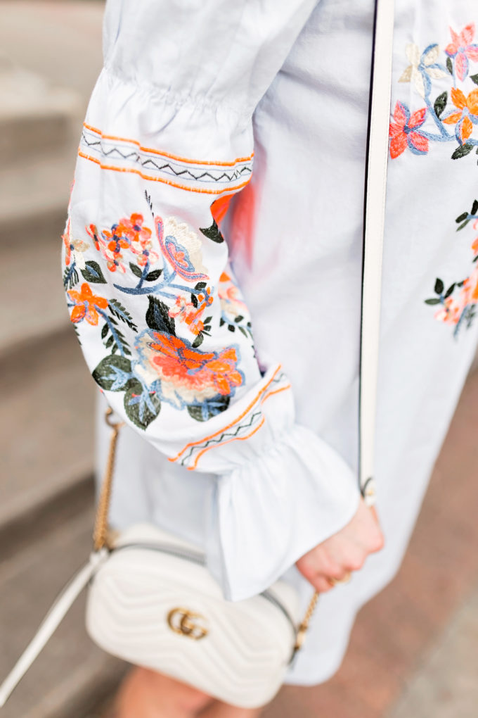 embroidered sleeve detail