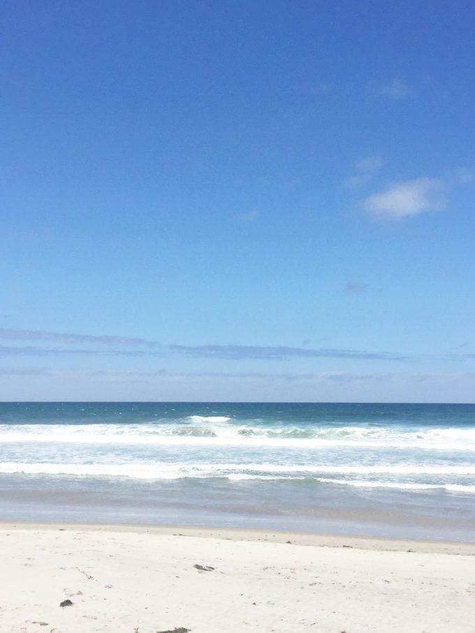 the Pacific Ocean at Del Mar CA