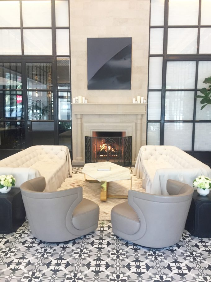 lobby at the pendry hotel san diego