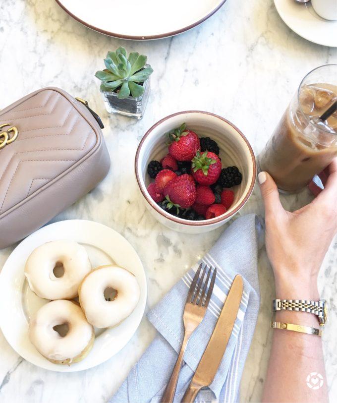 donuts fruit breakfast