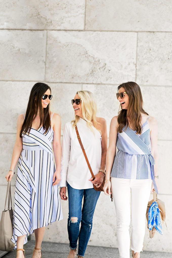 menswear inspired outfits on three women