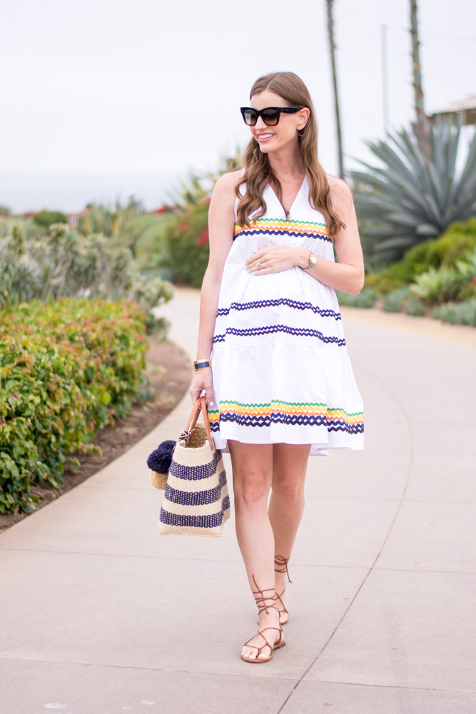white ric rac dress