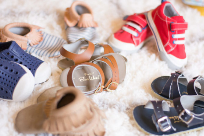 assortment of shoes for toddler boys