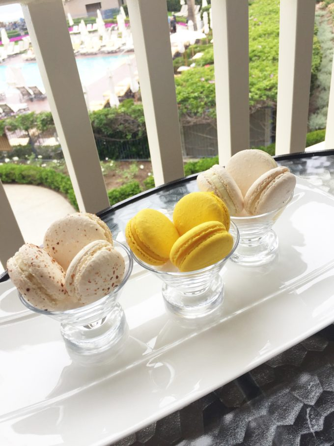 macarons on balcony