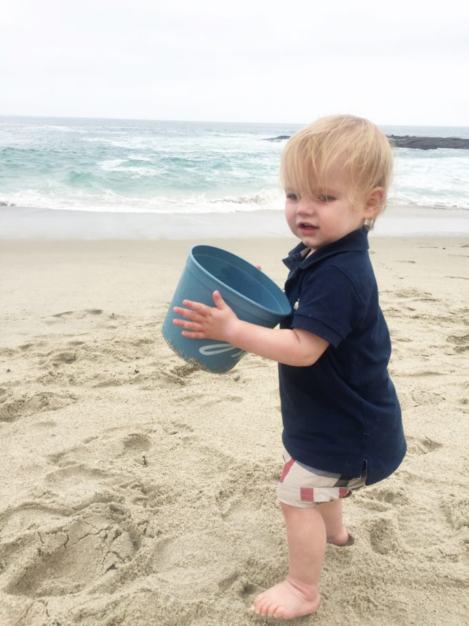 baby boy on the beach
