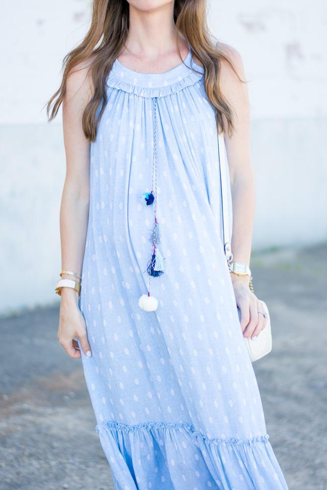 date nightmaxi dress with tassels