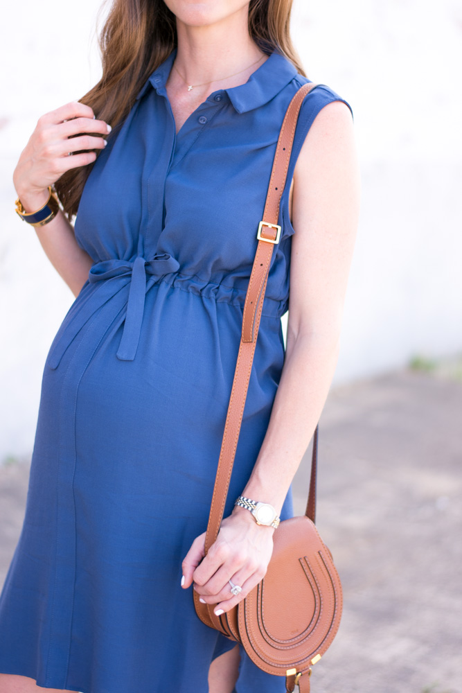 maternity dress with tie waist