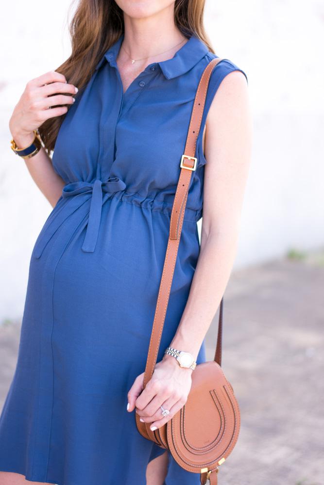 maternity dress with tie waist