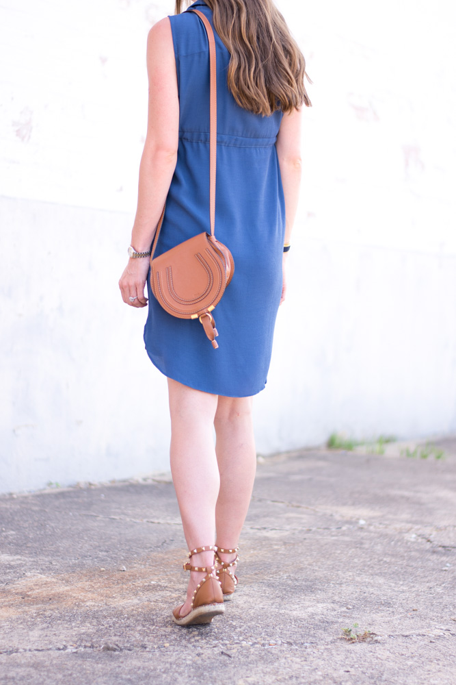 blue shirtdress maternity favorite