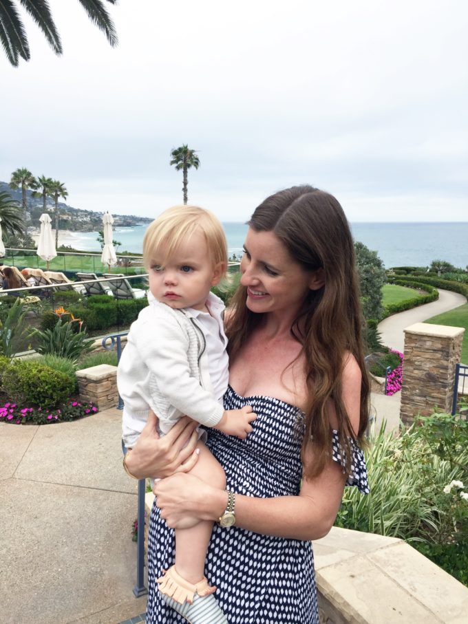 mother and baby boy at montage laguna beach