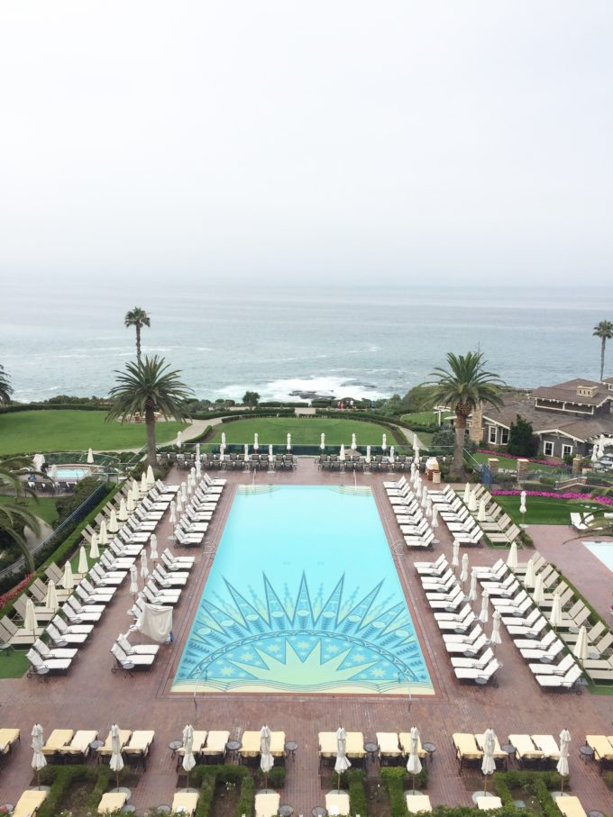 view of pool and ocean from montage laguna beach